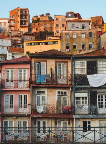 Old Buildings in Porto, Portugal.